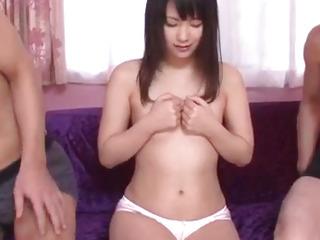 Tsuna Kimura, impressive gigs of wet three-way hook-up