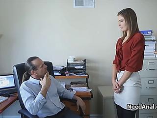 Legitimate Age Teen secretary nut peeks by lascivious manager