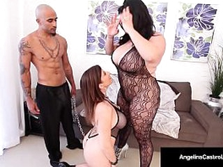 Buxomy Fat Frosted Honeys Angelina Castro and Sara Jay String up Threeways!