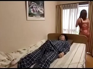 Asian mother with fat hooters smallish asian son