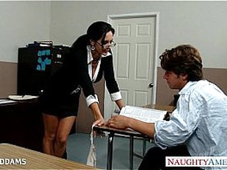Teacher in glasses Ava Addams gets thick boobs nailed