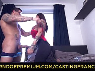 Audition FRANCAIS – Silicone chesty tattooed gal pounded moist