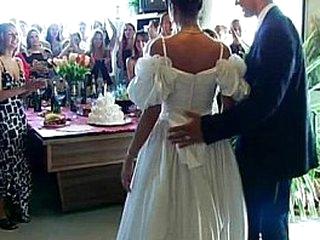 Wedding fucksluts are pounding in public