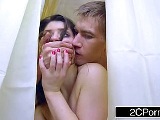 Building Wifey LUCIA String up GETS OFF CHEATING IN THE SHOWER WHILE Deepthroating OFF Spouse BEHIND THE CURTAIN
