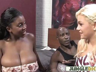 Black Couple Invites Blonde Bimbo For A 3Some - Bibi Noel, Maserati XXX