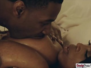 Ebony Maserati giving her guy a titjob