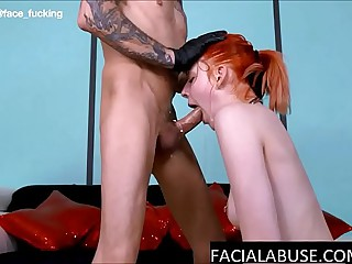 Throated 18 Year Old Tear Up During Her First Anal Scene