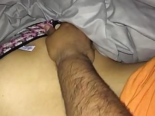 Fingering sleeping friends wife