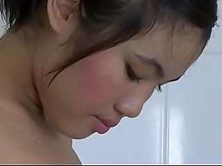 Best scene of  luxurious desired asian babe May Ma taking a shower